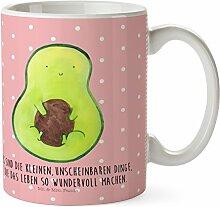 Mr. & Mrs. Panda Kunststoff Tasse Avocado mit Kern - 100% handmade in Norddeutschland - Kindergarten, Kern, Kunststoff Tasse, Camping Becher, Avocado, , Avokado, Pflanze, Avocadokern, Trinkbecher, Kindertasse, Spruch Leben
