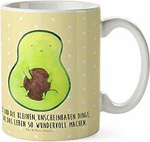 Mr. & Mrs. Panda Kunststoff Tasse Avocado mit Kern - 100% handmade in Norddeutschland - Kindergarten, Trinkbecher, Spruch Leben , Avocadokern, Avokado, Camping Becher, , Bruchfest, Pflanze, Kindertasse, Avocado, Kern