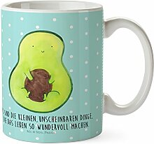 Mr. & Mrs. Panda Kunststoff Tasse Avocado mit Kern