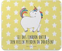 Mr. & Mrs. Panda Mauspad Druck Einhorn stolzierend - 100% handmade in Norddeutschland - Einhorn, Einhörner, Unicorn, stolz, anders, bunt, Pferd, Reiter, Reiten, Freundin, Geschenk Mouse Pad, Mousepad, Computer, PC, Männer, Mauspad, Maus, Geschenk, Druck, Schenken, Motiv, Arbeitszimmer, Arbeit, Büro Einhorn, Einhörner, Unicorn, stolz, anders, bunt, Pferd, Reiter, Reiten, Freundin, Geschenk