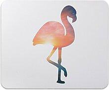 Mr. & Mrs. Panda Mauspad Druck Flamingo - 100% handmade in Norddeutschland - Flamingo, Pink, Federn, Flusskrebse Mouse Pad, Mousepad, Computer, PC, Männer, Mauspad, Maus, Geschenk, Druck, Schenken, Motiv, Arbeitszimmer, Arbeit, Büro