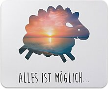 Mr. & Mrs. Panda Mauspad Druck Schaf - 100% handmade in Norddeutschland - Schaf, Bauernhof, Hof, Tier, Tiere Mouse Pad, Mousepad, Computer, PC, Männer, Mauspad, Maus, Geschenk, Druck, Schenken, Motiv, Arbeitszimmer, Arbeit, Büro