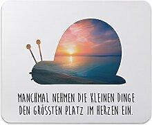 Mr. & Mrs. Panda Mauspad Druck Schnecke - 100% handmade in Norddeutschland - Schnecke Mouse Pad, Mousepad, Computer, PC, Männer, Mauspad, Maus, Geschenk, Druck, Schenken, Motiv, Arbeitszimmer, Arbeit, Büro