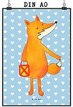 Mr. & Mrs. Panda Poster DIN A0 Fuchs Laterne -