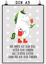 Mr. & Mrs. Panda Poster DIN A3 Einhorn Gärtner -