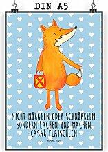 Mr. & Mrs. Panda Poster DIN A5 Fuchs Laterne -