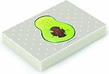 Mr. & Mrs. Panda Radiergummi Avocado mit Kern - 100% handmade in Norddeutschland - Gummi, Avocado, Kautschuk, Spruch Leben , Radierer, Avocadokern, Pflanze, Avokado, Natur, Kern, Radiergummi