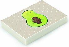 Mr. & Mrs. Panda Radiergummi Avocado mit Kern - 100% handmade in Norddeutschland - Kern, Avokado, Spruch Leben , Gummi, Natur, Radierer, Pflanze, Avocadokern, Avocado, Kautschuk, Radiergummi