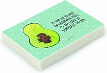 Mr. & Mrs. Panda Radiergummi Avocado mit Kern - 100% handmade in Norddeutschland - Gummi, Kern, Avocado, Radierer, Avocadokern, Spruch Leben , Natur, Pflanze, Kautschuk, Avokado, Radiergummi
