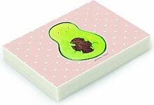 Mr. & Mrs. Panda Radiergummi Avocado mit Kern - 100% handmade in Norddeutschland - Avocado, Radiergummi, Avocadokern, Kautschuk, Natur, Pflanze, Radierer, Spruch Leben , Avokado, Kern, Gummi