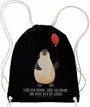 Mr. & Mrs. Panda Sportbeutel Pinguin Luftballon - 100% handmade in Norddeutschland - Pinguin, Pinguine, Luftballon, Tagträume, Lebenslust, Geschenk Freundin, Geschenkidee, beste Freundin, Motivation, Neustart, neues Leben, Liebe, Glück Sportbeutel, Gymsack, Hipster, Turnbeutel, Jutebeutel, Sporttasche, Tasche, Tragetasche
