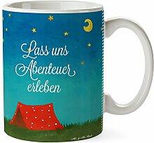 Mr. & Mrs. Panda Tasse Abenteuer - 100% handmade in Norddeutschland - Kaffeetasse, Urlaub, Bagpacker Geschenk, Reise Geschenk, Teetasse, Cup, Zelten, Frühstück, Camping, Becher, Abenteuer, Geschenk