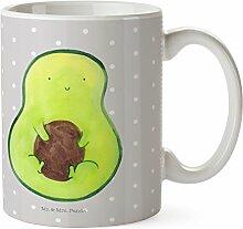 Mr. & Mrs. Panda Tasse Avocado mit Kern - 100% handmade in Norddeutschland - Avokado, Tee, Spruch Leben , Tasse, Kern, Pflanze, Geschenk, Porzellan, Becher, Kaffeetasse, Schenken, Cup