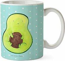Mr. & Mrs. Panda Tasse Avocado mit Kern - 100% handmade in Norddeutschland - Porzellan, Keramik, Frühstück, Pflanze, Spruch Leben , Kern, Kaffeetasse, Tee, Schenken, Tasse, Teetasse, Geschenk