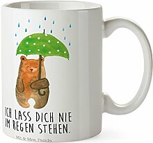 Mr. & Mrs. Panda Tasse Bär mit Regenschirm - 100% handmade in Norddeutschland - Spruch, Freunde, Familie, Partner, Pärchen, Liebesbeweis, Liebe, Liebeskummer, Partner zurück Tasse, Becher, Kaffeetasse, Geschenk, Teetasse, Tee, Cup, Schenken, Frühstück