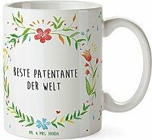 Mr. & Mrs. Panda Tasse Beste Patentante der Welt -