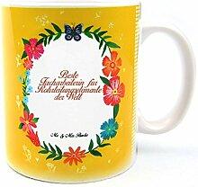 Mr. & Mrs. Panda Tasse Design Frame Happy Girls Beste Facharbeiterin für Rohrleitungselemente der Welt - Beruf Berufe Ausbildung Abschluss Berufsausbildung Geschenk Schenken Studium Diplom Bachelor Berufsschule Gratulation Danke Bedanken Dankeschön Tasse, Tassen, Becher, Kaffeetasse, Kaffee, Geschenkidee, Geschenk, Tee, Teetasse, Tee, Cup, Schenken, Frühstück