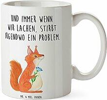Mr. & Mrs. Panda Tasse Eichhörnchen Blume - 100% handmade in Norddeutschland - Eichhörnchen, Eichhorn, Spruch positiv, Lachen, Spaß, Motivation Sprüche, Motivation Bilder, glücklich Spruch, Spruch Deko Tasse, Becher, Kaffeetasse, Geschenk, Teetasse, Tee, Cup, Schenken, Frühstück
