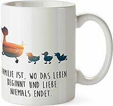 Mr. & Mrs. Panda Tasse Enten Familie - 100% handmade in Norddeutschland - Enten, Entenfamilie, Kinder, Ente, Mutter Tasse, Tassen, Becher, Kaffeetasse, Kaffee, Geschenkidee, Geschenk, Tee, Teetasse, Tee, Cup, Schenken, Frühstück Enten, Entenfamilie, Kinder, Ente, Mutter