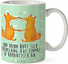Mr. & Mrs. Panda Tasse Füchse Liebe - 100% handmade in Norddeutschland - Freundin, Liebe, Schenken, Füchse, Verlobte, Cup, Keramik, Liebespaar, Becher, Liebesbeweis, Kaffeetasse, Ehe