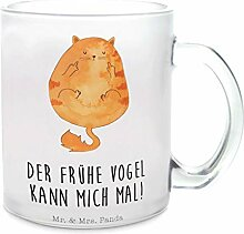 Mr. & Mrs. Panda Tasse, Glas, Glas Teetasse Katze