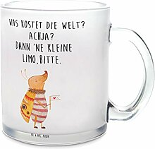 Mr. & Mrs. Panda Tasse, Glas, Glas Teetasse