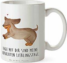 Mr. & Mrs. Panda Tasse Hund Dackel fröhlich - 100% handmade in Norddeutschland - Tasse, Becher, Kaffeetasse, Geschenk, Teetasse, Tee, Cup, Schenken, Frühstück
