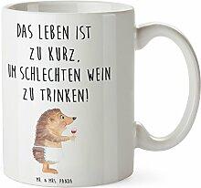 Mr. & Mrs. Panda Tasse Igel mit Wein - 100% handmade in Norddeutschland - Wein Spruch, Igel, Geschenk Weintrinker, Geschenk Weinliebhaber, Wein Deko, Weinglas, Rotwein, Weißwein, Wein trinken Tasse, Becher, Kaffeetasse, Geschenk, Teetasse, Tee, Cup, Schenken, Frühstück
