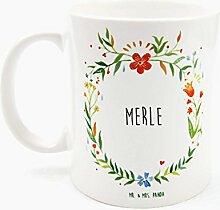 Mr. & Mrs. Panda Tasse Merle Design Frame Barfuß Wiese - 100% handgefertigt aus Keramik Holz - Anhänger, Geschenk, Vorname, Name, Initialien, Graviert, Gravur, Schlüsselbund, handmade, exklusiv