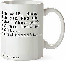 Mr. & Mrs. Panda Tasse mit Spruch Ich weiß, DASS