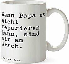 Mr. & Mrs. Panda Tasse mit Spruch Wenn Papa es