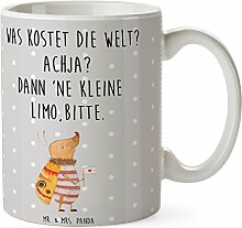 Mr. & Mrs. Panda Tasse Nachtfalter mit Fähnchen - 100% handmade in Norddeutschland - Tee, Frühstück, Teetasse, niedlich, Tasse, Kaffeetasse, Nachtfalter, Becher, Was kostet die Welt, Käfer, Spruch lustig, Keramik