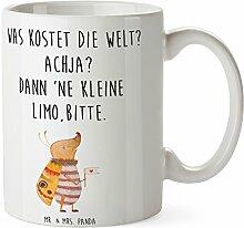 Mr. & Mrs. Panda Tasse Nachtfalter mit Fähnchen - 100% handmade in Norddeutschland - Nachtfalter, Käfer, Spruch lustig, Spruch witzig, süß, niedlich, Küche Deko, Was kostet die Welt Tasse, Becher, Kaffeetasse, Geschenk, Teetasse, Tee, Cup, Schenken, Frühstück