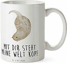 Mr. & Mrs. Panda Tasse Otter kopfüber - 100% handmade in Norddeutschland - Otter Seeotter See Otter Tasse, Becher, Kaffeetasse, Geschenk, Teetasse, Tee, Cup, Schenken, Frühstück