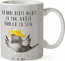 Mr. & Mrs. Panda Tasse Rabe mit Sombrero - 100% handmade in Norddeutschland - fröhlich sein, Becher, Cup, Kaffeetasse, Elster, glücklich sein, Vogel, Tee, Teetasse, Motivation, froh, Keramik