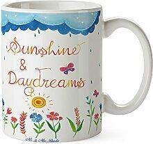 Mr. & Mrs. Panda Tasse Sunshine and Daydreams - 100% handmade in Norddeutschland - Keramik, Tee, sunshine, Porzellan, Cup, Geschenk, Tasse, Traum, Becher, Zitat, Kaffeetasse, Teetasse
