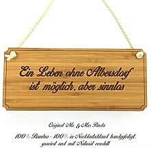 Mr. & Mrs. Panda Türschild Stadt Albersdorf Classic Schild - Gravur,Graviert Türschild,Tür Schild,Schild, Fan, Fanartikel, Souvenir, Andenken, Fanclub, Stadt, Mitbringsel