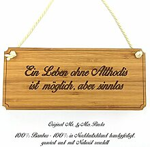 Mr. & Mrs. Panda Türschild Stadt Althodis Classic Schild - Gravur,Graviert Türschild,Tür Schild,Schild, Fan, Fanartikel, Souvenir, Andenken, Fanclub, Stadt, Mitbringsel
