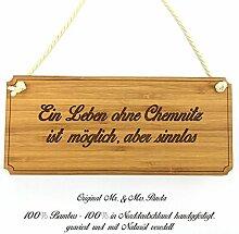 Mr. & Mrs. Panda Türschild Stadt Chemnitz Classic Schild - Gravur,Graviert Türschild,Tür Schild,Schild, Fan, Fanartikel, Souvenir, Andenken, Fanclub, Stadt, Mitbringsel