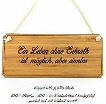 Mr. & Mrs. Panda Türschild Stadt Erkrath Classic Schild - Gravur,Graviert Türschild,Tür Schild,Schild, Fan, Fanartikel, Souvenir, Andenken, Fanclub, Stadt, Mitbringsel