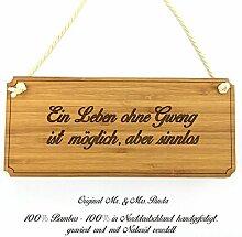 Mr. & Mrs. Panda Türschild Stadt Gweng Classic Schild - Gravur,Graviert Türschild,Tür Schild,Schild, Fan, Fanartikel, Souvenir, Andenken, Fanclub, Stadt, Mitbringsel