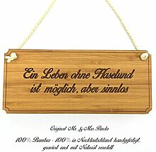 Mr. & Mrs. Panda Türschild Stadt Haselund Classic Schild - Gravur,Graviert Türschild,Tür Schild,Schild, Fan, Fanartikel, Souvenir, Andenken, Fanclub, Stadt, Mitbringsel