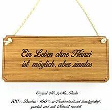 Mr. & Mrs. Panda Türschild Stadt Heinzi Classic Schild - Gravur,Graviert Türschild,Tür Schild,Schild, Fan, Fanartikel, Souvenir, Andenken, Fanclub, Stadt, Mitbringsel