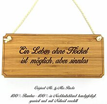 Mr. & Mrs. Panda Türschild Stadt Höckel Classic Schild - Gravur,Graviert Türschild,Tür Schild,Schild, Fan, Fanartikel, Souvenir, Andenken, Fanclub, Stadt, Mitbringsel