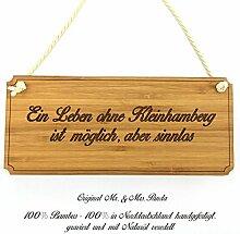 Mr. & Mrs. Panda Türschild Stadt Kleinhamberg Classic Schild - Gravur,Graviert Türschild,Tür Schild,Schild, Fan, Fanartikel, Souvenir, Andenken, Fanclub, Stadt, Mitbringsel