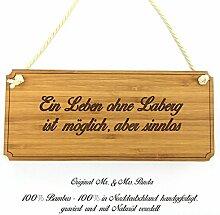 Mr. & Mrs. Panda Türschild Stadt Laberg Classic Schild - Gravur,Graviert Türschild,Tür Schild,Schild, Fan, Fanartikel, Souvenir, Andenken, Fanclub, Stadt, Mitbringsel