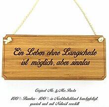 Mr. & Mrs. Panda Türschild Stadt Langschede Classic Schild - Gravur,Graviert Türschild,Tür Schild,Schild, Fan, Fanartikel, Souvenir, Andenken, Fanclub, Stadt, Mitbringsel