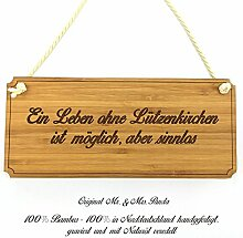 Mr. & Mrs. Panda Türschild Stadt Lützenkirchen Classic Schild - Gravur,Graviert Türschild,Tür Schild,Schild, Fan, Fanartikel, Souvenir, Andenken, Fanclub, Stadt, Mitbringsel