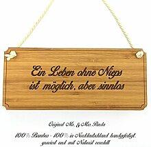 Mr. & Mrs. Panda Türschild Stadt Nieps Classic Schild - Gravur,Graviert Türschild,Tür Schild,Schild, Fan, Fanartikel, Souvenir, Andenken, Fanclub, Stadt, Mitbringsel