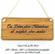 Mr. & Mrs. Panda Türschild Stadt Notzenhaus Classic Schild - Gravur,Graviert Türschild,Tür Schild,Schild, Fan, Fanartikel, Souvenir, Andenken, Fanclub, Stadt, Mitbringsel